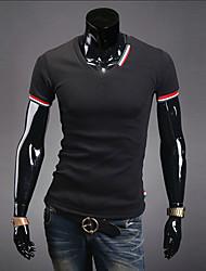 Informell/Business V-Ausschnitt - Kurzarm - MEN - T-Shirts ( Baumwolle/Polyester )
