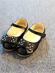 Girls' Shoes Party & Evening / Dress / Casual Leatherette Flats Summer Comfort / Mary Jane / Round Toe / Closed Toe Flat HeelBowknot /