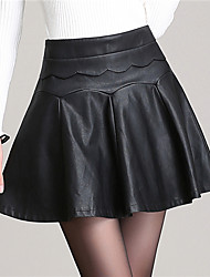 Women PU Skirt , Lined