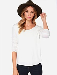Women's Round Neck Blouse , Cotton Long Sleeve