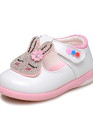 Girl's Flats Spring / Fall Closed Toe / Comfort / Round Toe Leatherette Wedding / Outdoor / Dress / CasualRhinestone / Applique / Hook &