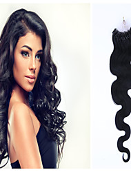 Grade 5A 1Pc/Lot 20Inch/50cm Multicolors Wavy Micro Ring Hair Extensions Human Hair Weaves 100s/Pack 0.5G/s