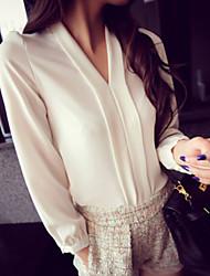 V-hals - Polyester Vrouwen - Blouse - Lange mouw
