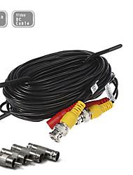 100 pies (30 m) cable de la cámara de vigilancia de ampliación de potencia de video de seguridad CCTV pre-hizo todo en un cable bnc rca