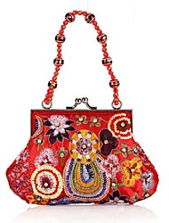 Women 's Polyester Fold over Clutch Tote - Multi-color