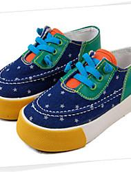 Zapatos de bebé - Sneakers a la Moda - Casual - Tela - Azul / Naranja