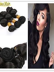 3pcs / lot 2015 neueste brasilianische remy reine Haarwebart lose Welle unverarbeiteten Haareinschlagfaden beste Qualität Haar spinnt