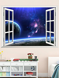 3d parede estilo decalques adesivos de parede criativas vasto céu estrelado de parede adesivos pvc