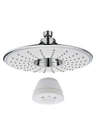 Rain Showerhead with Waterproof Wireless Bluetooth Speaker for Music & Phone Call in Bath, White