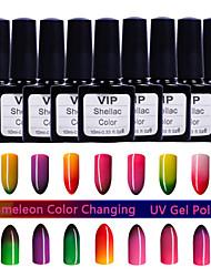 1Pcs MINGSHAN 10ml Chameleon Color Changing UV Gel Polish Assorted Colors