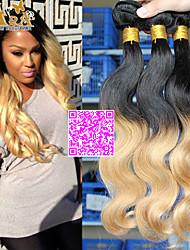 3pcs/Lot 10''-26'' Color 1B27 Eurasian Virgin Hair Body Wave Human Hair Weaves