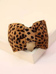 Leopard Cloth Bowknot Hairpin