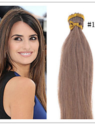 Cheap 100% Russian Virgin Human Hair Extensions Straight I Tip Pre-Bonded Hair Extension 1G/S 50G/PC 1Pc/Lot In Stock