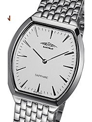 EASMAn Brand Watch Men Silver Quartz Classic Business Luxury Switzerland Steel Dial Men Watch Wristwatches