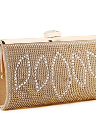 Women 's Other Leather Type Minaudiere Clutch/Evening Bag - Gold/Silver