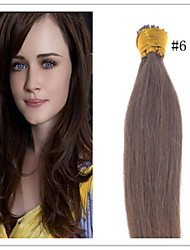 Cheap Indian Stick Hair/I Tip Fusion Hair Extension Virgin Pre-bonded Keratin Hair  1G/S 50G/PC 1Pc/Lot In Stock