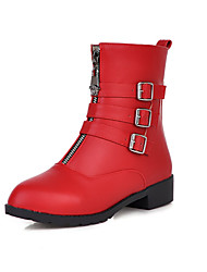 Women's Shoes Chunky Heel Fashion Boots Boots Casual Black/Red