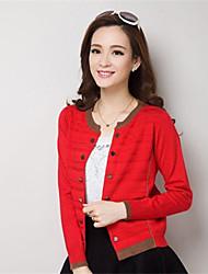 Women's Blue/Red/Black/Orange/Gray Cardigan , Casual Long Sleeve