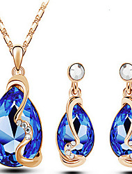 May Polly  The explosion of Austria Crystal Earrings Necklace Set