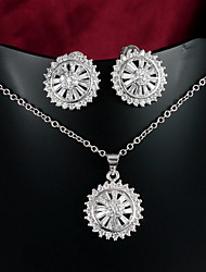 New Fashion Jewelry Casual Platinum Plated Necklace Wedding jewelry Sets Bridal Wholesale Price