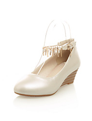 Women's Shoes Faux  Wedge Heel Round Toe/Closed Toe Loafers