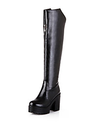 Women's Shoes Faux Chunky Heel Round Toe/Closed Toe Boots