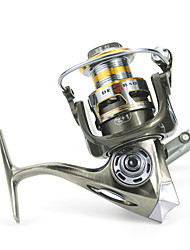 2000 Size 5.2:1 Full Metal Reel 12+1 Ball Bearings All Metal Sea Fishing Freshwater Fishing Spinning Fishing Reel