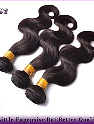 "3Pcs/Lot 8""-28"" Malaysian Virgin Hair Natural Black Body Wave Human Hair Weaves Queen Hair Products 100% Best Quality"