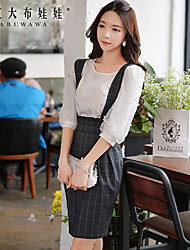 Pink Doll®Women's Casual/Party/Bodycon Check  Pattern High Waist Skirts