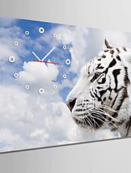 E-HOME® White Tiger Clock in Canvas 1pcs