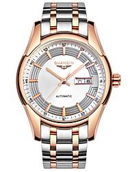 gravura em aço inoxidável oco homens guanqin relógio de pulso 40 milímetros resistente à auto-liquidação relógio de 100m de água