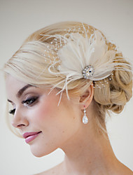 Hand Made Wedding Feather Hair Clip Fascinator Headpieces Fascinators 042