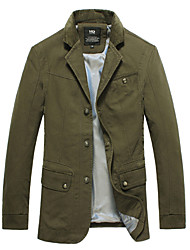 2015 Brand New Men Jackets Asian Size Pure Army Green Color Formal Fashion Men Clothing 113-2 8818 SP001592