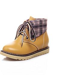 Women's Boots Fall / Winter Comfort / Round Toe Wedding / Outdoor / Dress Platform Split Joint / Blue / Yellow