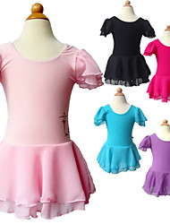 BHL Kids Girls Gymnastics Leotard Ballet Dancewear Dress SZ3-14Y Chiffon Skirt
