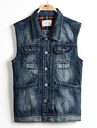 Men's Pure Long Sleeve Jacket , Cotton Casual 3XL