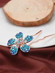 Women's Rhinestone/Alloy Headpiece - Casual Flower Hair Pin 1 Piece