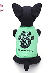 Cat / Dog Shirt / T-Shirt Green Summer Cartoon / Letter & Number Wedding / Cosplay