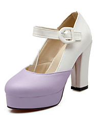 Women's ShoesStiletto Heel Heels/Closed Toe Pumps/Heels Office & Career/Dress/Casual Pink/Purple/White