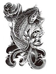 8PCS Temporary Armband Tattoo/Fish VS Water VS Flower/Waterproof Big Size Fake Tatoo Sticker Art/Armband,Shank,Belly