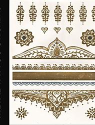 New Brand India Metallic Flash Tatoo Temporary Stickers Sexy Tattoo Body Art\Jewelry Vs Flower\Fashion Fake Tattooing