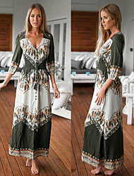 Women's Dresses , Polyester Sexy/Beach/Casual/Cute/Party ¾ Sleeve Cathy