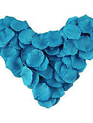 600Pcs Wedding Peacock Blue Rose Petals, Table Decoration