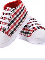 Zapatos de bebé - Sneakers a la Moda - Casual - Tela - Negro / Rojo