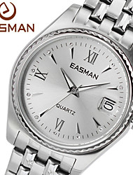 EASMAN Brand Watch Men Silver Big Quartz Watches For Men Dress Men Fashion Wristwatches Designer Luxury Mens Watches