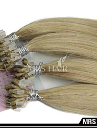 """18 """"0.8g / pc 16 # oro micro anello anello estensioni dei capelli scuri 50 parti / pacchetto micro collegamenti capelli sistema"""