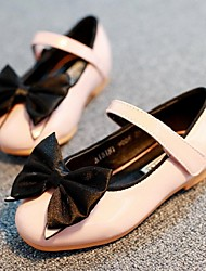Girls' Shoes Party & Evening/Dress/Casual Mary Jane/Closed Toe Leatherette Flats Pink/Beige