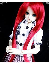 """Tita 1/4 7-8 """"dal msd pullip bjd sd luts souper dollfie poupée rouge longue perruque"""