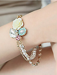 New Arrival Fashional Popular Sweet Simple Crystal Flower Bracelet