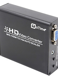 otime® ot-337a MHL + HDMI zu VGA Scaler Box-black